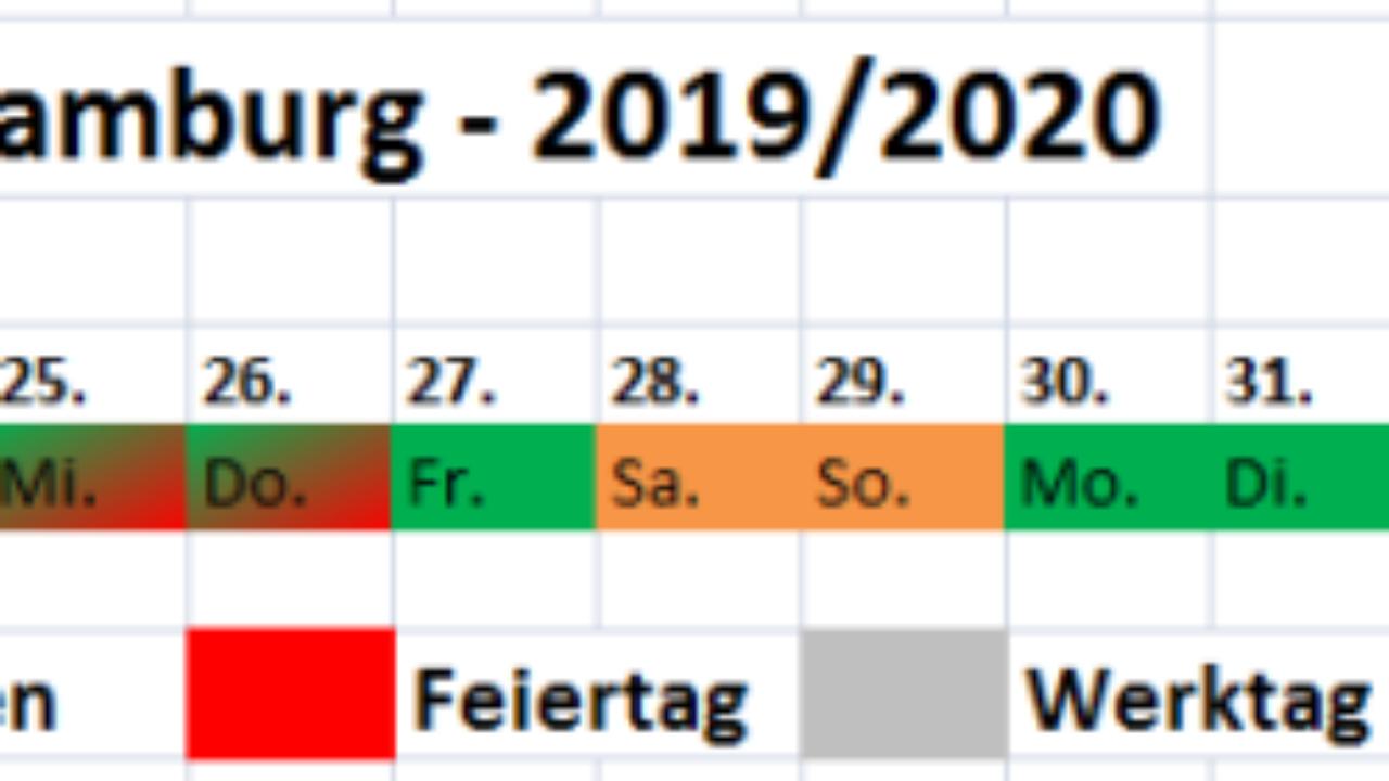Weihnachtsferien Hamburg 2021