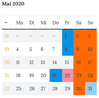 Berlin Brueckentage Mai 2020