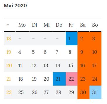 Brückentag Bayern 2020 - 22. Mai