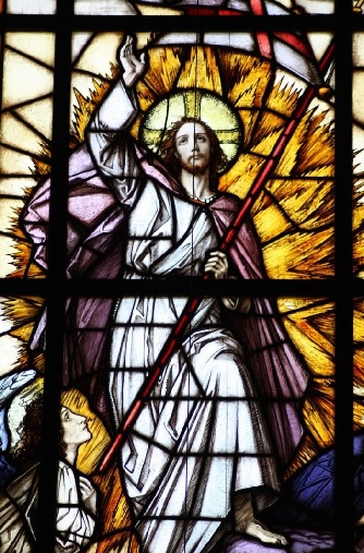 Fensterscheibe - Christi Himmelfahrt