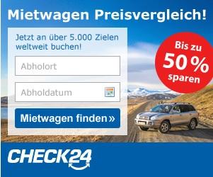 Banner Check 24 Mietwagen